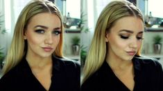 Sleek Middle Part Hair Tutorial / Kardashian Inspired - YouTube