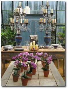 Lunch at Petersham Nurseries - 19 by adrianhind, via Flickr, Wood Outdoor Furniture, Painted Patio Furniture, Antique Wood Painted Furniture, Paint Colors, Patio Furniture Ideas