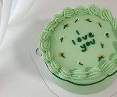 Pretty Birthday Cakes, Pretty Cakes, Green Birthday Cakes, Kreative Desserts, Simple Cake Designs, Pastel Cakes, Frog Cakes, Think Food, Cute Desserts