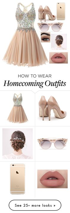 """""""Peach"""" by gustavia5347 on Polyvore featuring Rupert Sanderson and Jimmy Choo"""