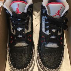 pretty nice 0aed7 5cfce Nike Shoes   Air Jordan Retro 3 Gs Og Black Cement   Color  Black   Size  7b