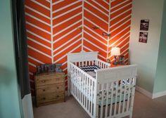 Gray, Aqua, Navy color combo - accent with yellow? #nurseryinspiration #nursery #babynursery #color