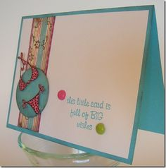 Big wishes greeting card: Handmade greeting card with bikini