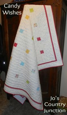 Free pattern - so cute uses mini charms Moda Bake Shop: Candy Wishes Quilt @ModaFabrics
