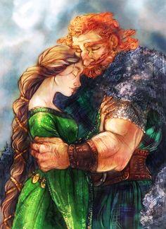 CC: Elinor and Fergus by *MistyTang on deviantART