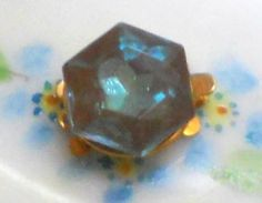 Vintage Saphiret Clasp Glass Deco Art Three Strand Bracelet Necklace Clasps 3 | eBay