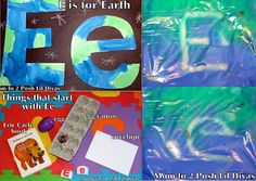 Ee is for Earth - craft, phonics & writing activity for preschool