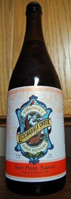 Lickinghole Creek Craft Brewery Short Pump Saison · Lickinghole Creek Farm Brewery - Virginia Farmhouse Ale