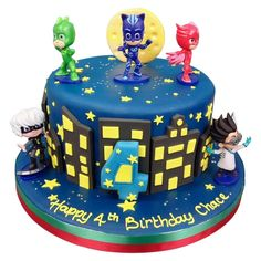 PJ Masks Birthday Cake delivered anywhere in the London area. Plus over 800 other cake designs, made fresh to order. Click for London's favourite cake maker