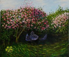 """(Note: The painting in question is Claude Monet's """"Rest under the Lilacs."""")"""