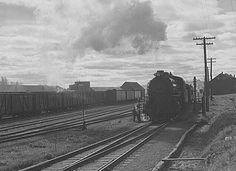 Zug der Bangor & Aroostook in Caribou im Oktober 1940 - Maine