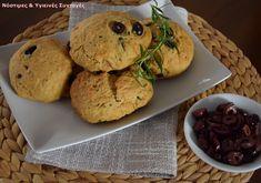 Νηστίσιμο ελιόψωμο με μυρωδικά Healthy Food, Healthy Recipes, Healthy Living, Muffin, Cookies, Breakfast, Desserts, Healthy Foods, Crack Crackers
