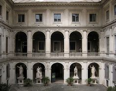 courtyard at the Palazzo Altemps