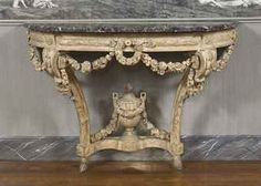 Regal Marble Louis Xiv Console Table
