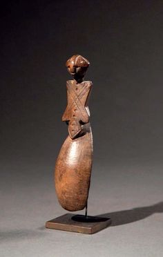 Africa | Spoon from the Gurunsi people of Burkina Faso | Wood.  H:  16 cm