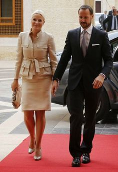 Crown Princess Mette-Marit and Crown Prince Haakon are currently in Jordan on a 2 day state visit. 22/10/2014