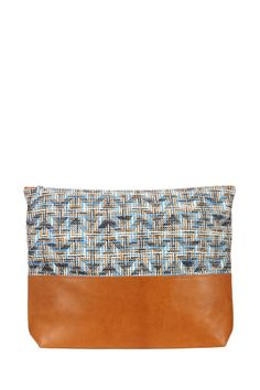 Pochette XL en cuir et tissage Molly-Jo Fancy Sessun sur MonShowroom.com