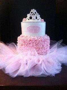 Pink Ruffle Tutu Princess Cake ~ all edible except for the tutu princesa bailarina corona niña Ballerina Birthday Parties, Ballerina Party, Birthday Tutu, Girl Birthday, Cake Birthday, 1st Birthday Cakes For Girls, Birthday Cake For Daughter, Birthday Ideas, 24th Birthday