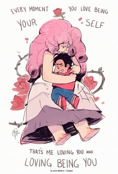 elgatoiberico:  I had a dream about Steven and Rose so I sketched out something Straight to Video related to compensate for the feeling of being struck in the heart that it left me