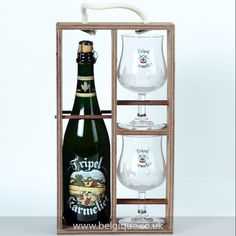 This gift pack includes a large 75cl bottle of Triple Karmeliet and two atrractive collectable glasses.