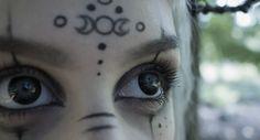*triple moon* make up <3 Makeup Inspo, Makeup Art, Makeup Inspiration, Beauty Makeup, Eye Makeup, Makeup Style, Skull Makeup, Goth Beauty, Witchy Makeup