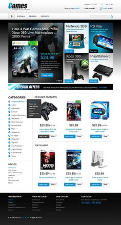 Game Store PrestaShop Themes by Hermes