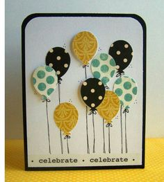 Balloons in the Air Mini Invitation Card - 1 @ Rs. 179 | More than 10 - Rs. 149 per Card