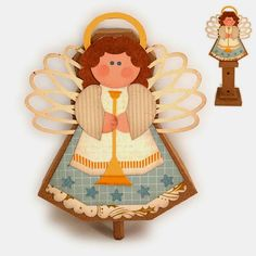 Needles 'n' Knowledge: Nativity Angel and Stand Assembly Guide