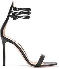 Gianvito Rossi - Leather Sandals - Black  #GianvitoRossi #black #sandals have been hand-finished in #Italy using #smooth and supple #leather - Set on a pin-thin #heel - this #elegant pair is finished with slim straps at the ankle that not only frame your foot but support it, too. We like their #versatility - wear them with everything from #dresses to pants. #Heels #Sandals