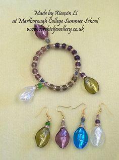 Bracelet & earrings made by Xiaoxin Li at Marlborough College Summer School run by www.verchieljewellery.co.uk