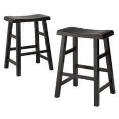 Basic stools for the breakfast bar, tuck out of the way