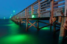 The fishing pier in Fulton, Texas.