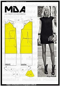 Short dress pattern with raglan sleeves. Sewing Patterns Free, Clothing Patterns, Dress Patterns, Diy Sewing Projects, Sewing Tutorials, Diy Clothing, Sewing Clothes, Fashion Sewing, Diy Fashion