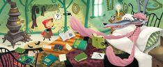 """Cappuccetto Rosso, fiaba per bambini illustrata da Sebastiàn Barreiro. Leggete l'intera storia su """"Leggimi Ancora"""". #Grimm #stories #fiabe #barreiro#dabija #illustrazioni #storieillustrate #kids #animaciones #illustratori #arte #art #disegni #drawing #cartoon #cappuccettorosso #childrenbooks"""