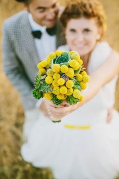 Yellow dots wedding - photo by www.cinziabruschini.it