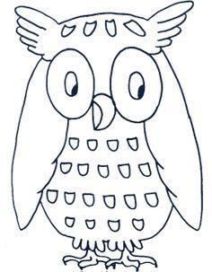 unique coloring pages owl cartoon - photo#25