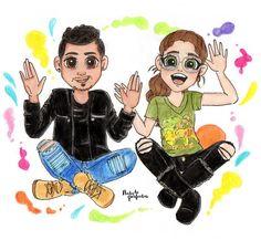 yyyyyyy… #QueSePareElMundo porque me encantó la segunda parte del vídeo de @KarolSevillaofc 🌻🐢🙈 con su hermano Mau! 😱 #TagDelHermanoKS 🇲🇽 te quiero mucho mucho Karol! 💛💗🌮 Etiqueta a #KarolSevilla, me encantaría que ella viese este dibujo! 🙌...