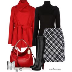 Wish we had cold weather! Cute work outfit!