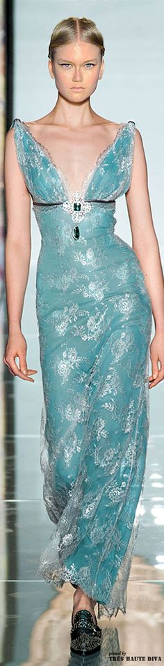 Love everything about thid dress!! The fabric is insanely gorgeous!! Roccobarocco Fall/Winter 2014