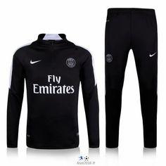 huge selection of fbe90 49b0d boutique officiel Nouveau Survetement PSG Noir 2016 pas cher Veste Nike  Homme, Survetement Nike Homme