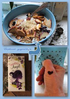 Tejbe köles, bizonyos mély gondolatokkal. Cereal, Oatmeal, Breakfast, Blog, The Oatmeal, Morning Coffee, Blogging, Corn Flakes, Rolled Oats