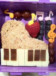 Music box bento - a fun snack while studying Creative Composers!