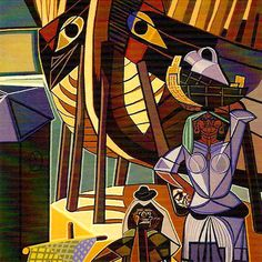 Tapeçarias. Pinturas de Almada Negreiros em Tapeçarias de Portalegre Henri De Toulouse Lautrec, Gustav Klimt, Preston, Paint Designs, 19th Century, Spiderman, Abstract Art, African, Ocean