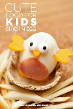 Cute Food For Kids: Chicken Egg