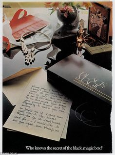 Romance: The iconic letter features in this Black Magic advert from the half a century after the brand was first launched Tv Adverts, Old Advertisements, Black Magic Chocolates, Chocolate Gum, Magic Box, Vintage Candy, Vintage Ephemera, Birthday Presents, Romance