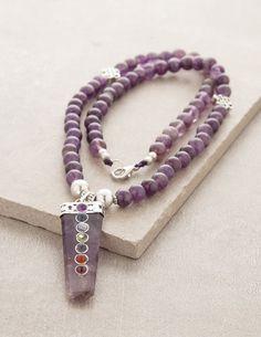 Amethyst Chakra Energy Necklace