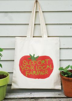 tote bag Support your local farmer hand drawn typography black and white cow Canvas tote bag Support your local farmer hand drawn by LizzyClara Cow Canvas, Flower Farmer, Hand Drawn Type, Diy Tote Bag, Save The Bees, Black Tote Bag, Bumper Stickers, Cute Gifts, Canvas Tote Bags