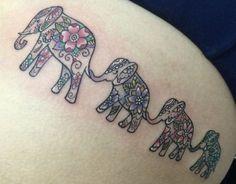 ... Elephant family tattoo Elephant tattoos and Elephant tattoo design