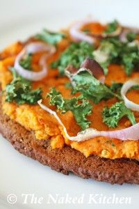 gluten/grain free pizza (not sold on the sweet potato sauce, but this crust recipe will come in handy)