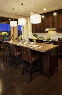 Warm wood kitchen cabinets Kitchens Pinterest Wood kitchen
